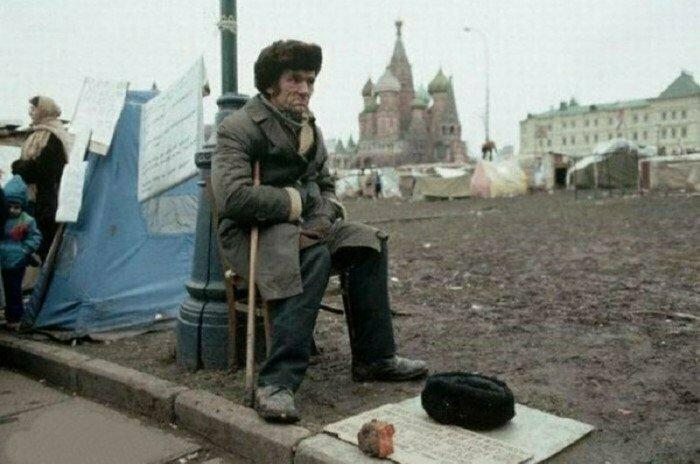Палаточный городок беженцев. Москва. 1990 год. Фото Питера Тёрнли