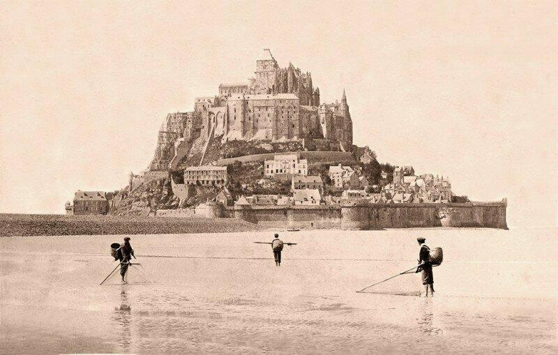 Рыбаки недалеко от Мон-Сен-Мишель, Нормандия, Франция, 1889 год.