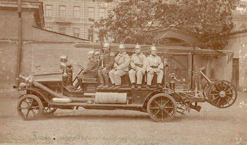 Первая пожарная машина в Киеве. 1913 год
