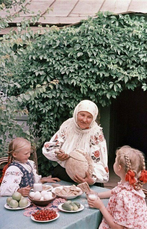 Завтрак у бабушки. УССР, 1960-е