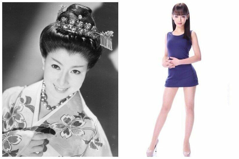 """Фудзико Ямамото """"Мисс Япония 1950"""" и Марика Сера, Мисс Япония 2019"""