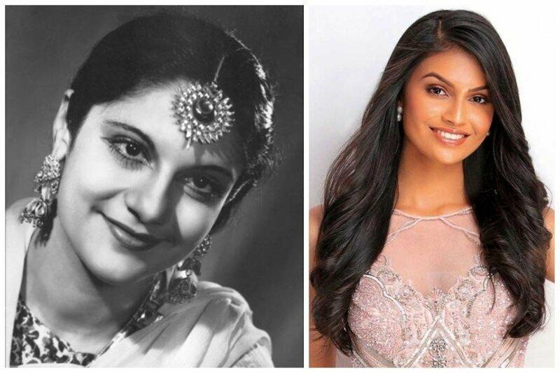 """""""Мисс Индия-1947"""" Витория Абрахам и """"Мисс Индия 2019"""" Суман Рао"""