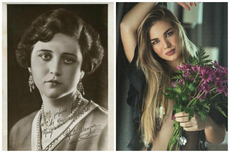 Пепита Сампер Мисс Испания 1929  и Мария дель Мар Агилера мисс Испания 2019