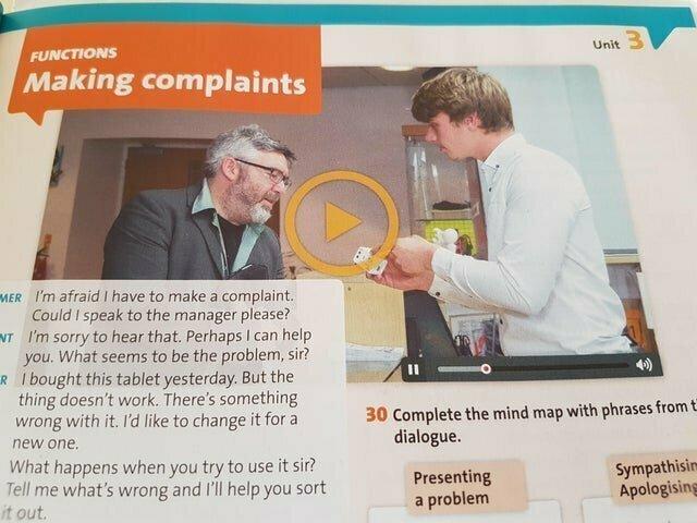 Учебник, в котором нельзя нажать на просмотр видео