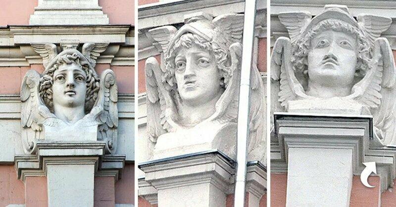 Маска бога Меркурия на улице Мясницкой, Москва