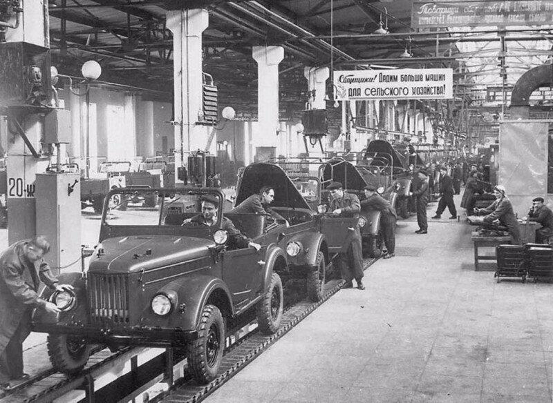 Сборочный цех Ульяновского автомобильного завода, 1950-ые г.