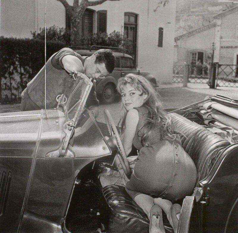 Брижит Бардо на съемках, 1954 год.