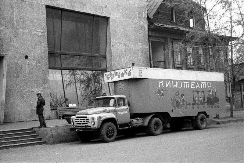 Кинотеатр на колесах, Краснодарский край, 1980 год