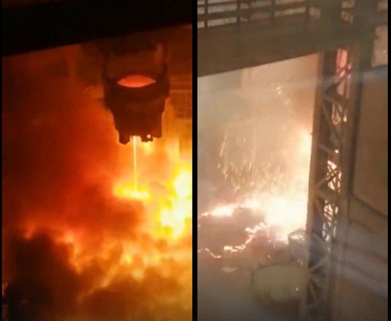 60 тонн раскаленной стали пролили на комбинате в Старом Осколе