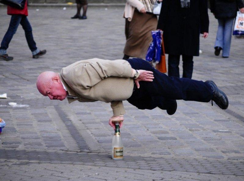 Дедушка и бутылка