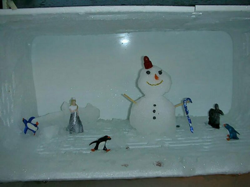Дед Мороз ночевал, да ушёл рано