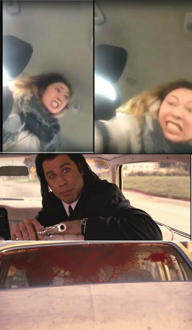 Истеричка в московском такси стала мемом, а ее вопли увековечили на наклейках