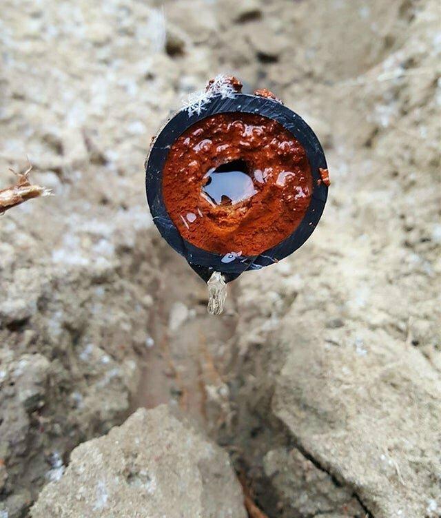 Водопроводная труба после 15 лет использования