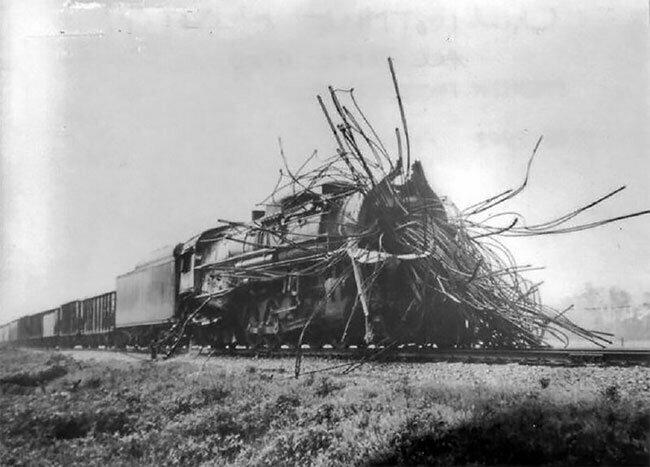 Что оставалось от паровоза после взрыва котла