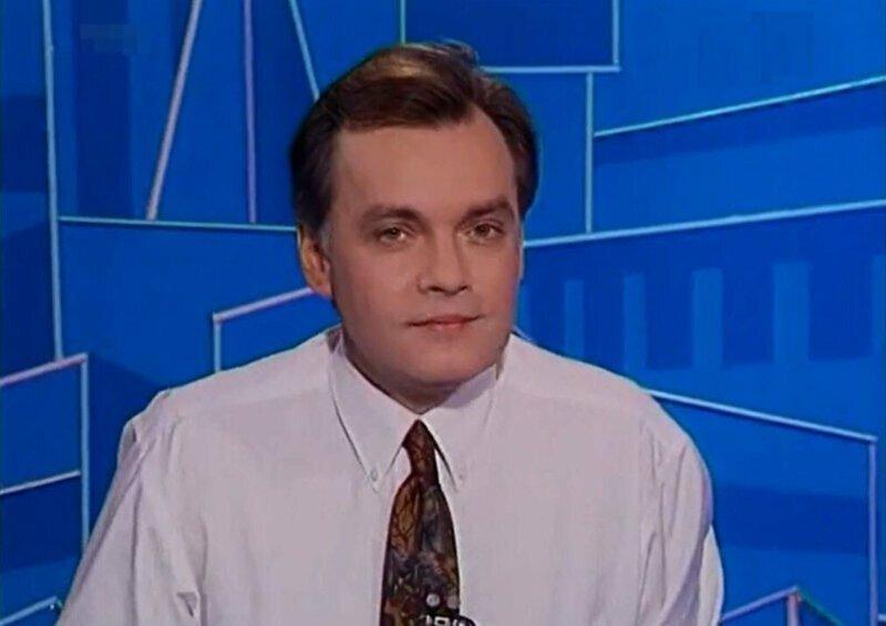 Дмитрий Киселёв сменил убитого Владислава Листьева на посту ведущего программы «Час Пик» на телеканале ОРТ. 1995 год
