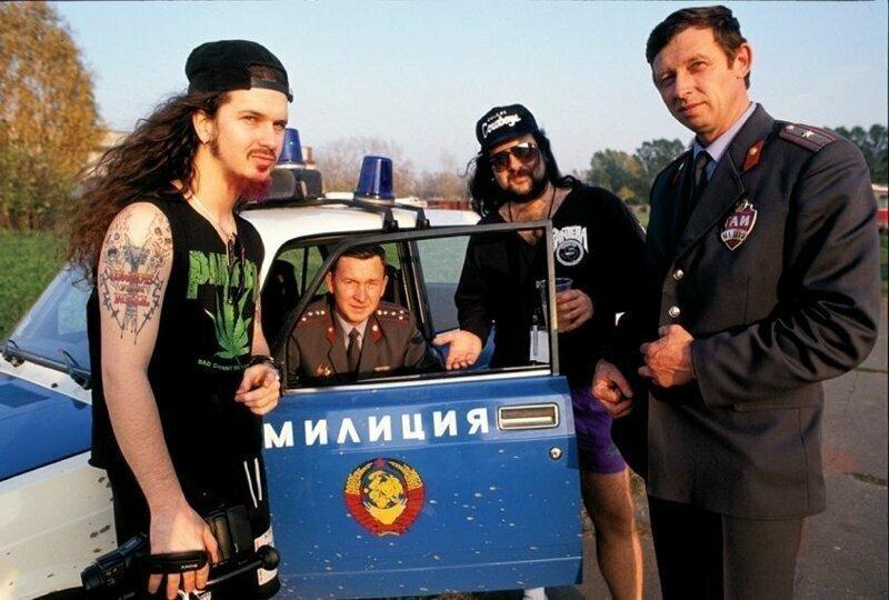 Метал группа Pantera на фестивале Монстры Рока, 1991 год