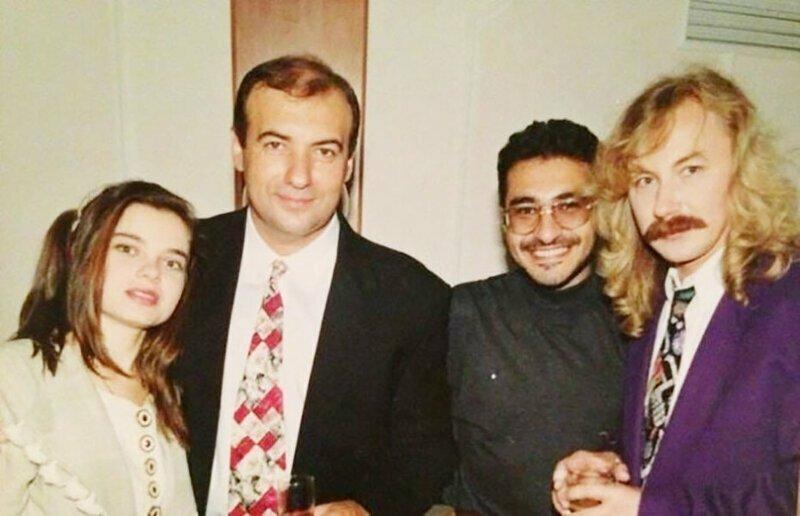 Наташа Королева, Игорь Крутой, Артур Гаспарян и выпивающий Игорь Николаев, 90-е