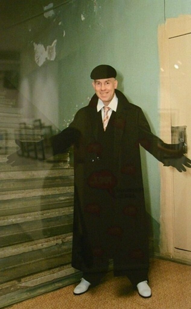 Виктор Сухоруков на съемках фильма Брат-2, 1999 год