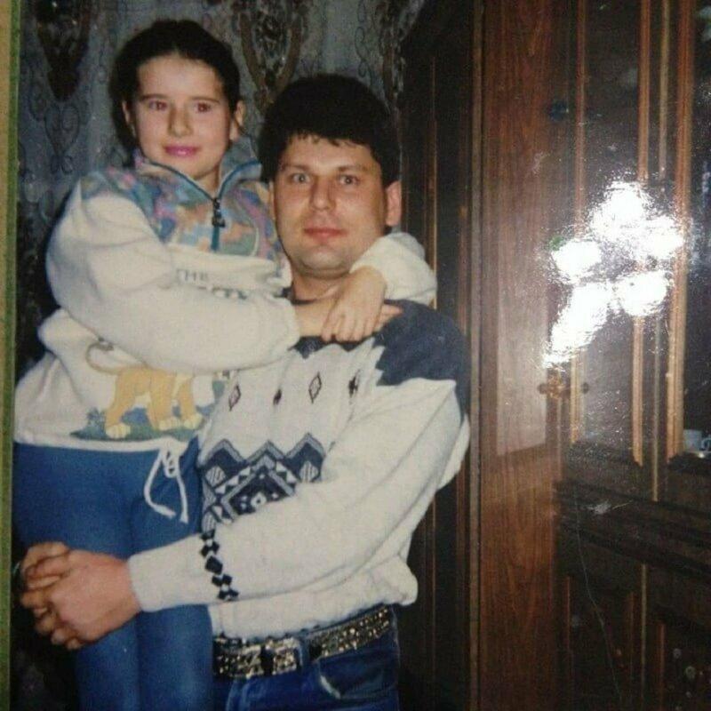 """Юрий """"Хой"""" Клинских с дочерью"""