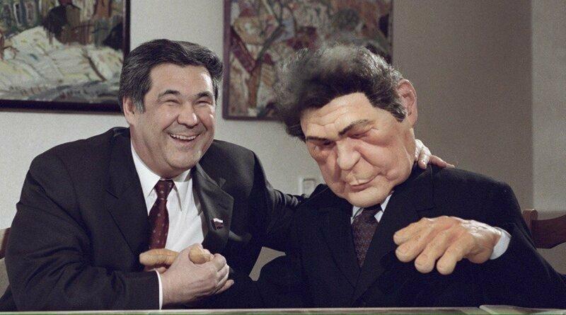 Как казалось тогда, вечный губернатор Кемеровской области -Тулеев со своей куклой