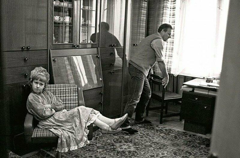 Анатолий Собчак с дочерью Ксюшей. Ленинград, 1989 год.