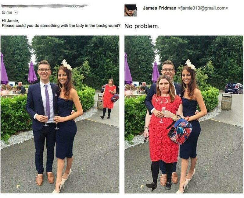 Привет, Джейми, пожалуйста, не мог бы ты сделать что-нибудь с девушкой на заднем плане?
