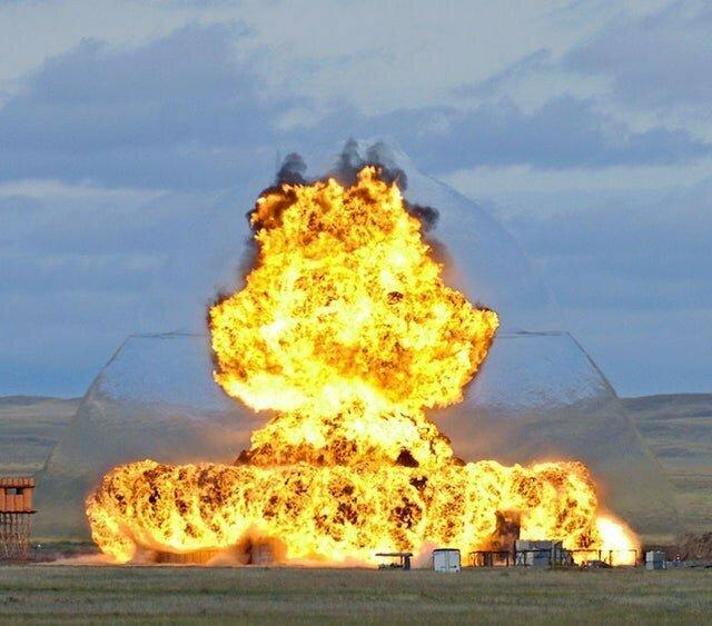 Как выглядит ударная волна во время взрыва