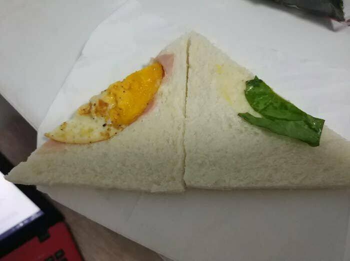 Бутерброд с яйцом, точнее, с его обрезком