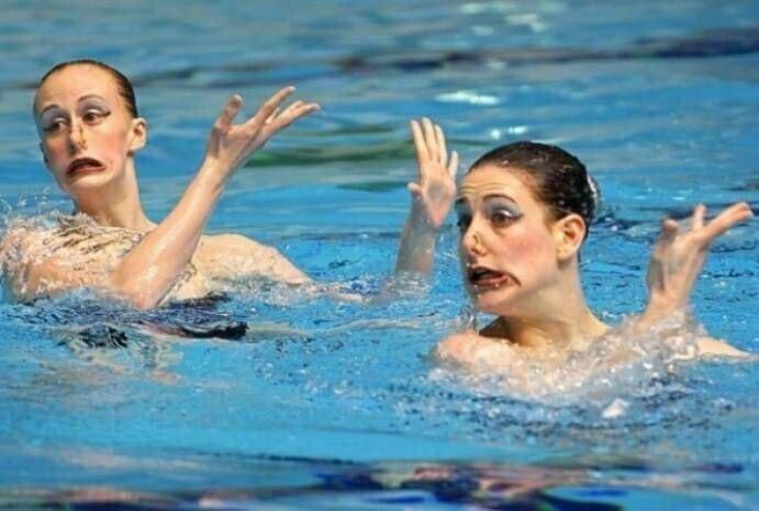 Лица синхронного плавания - это нечто