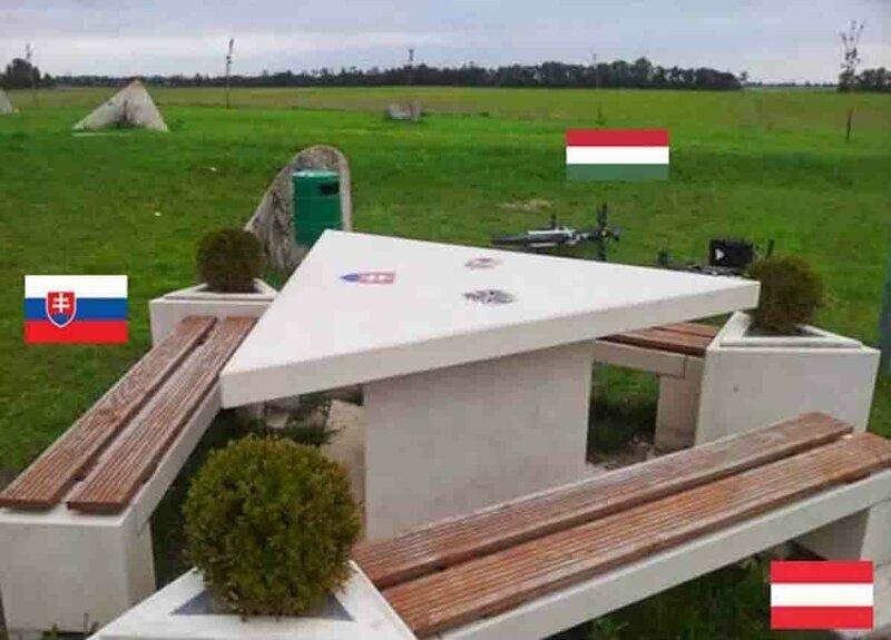 Граница между Австрией, Венгрией и Словенией