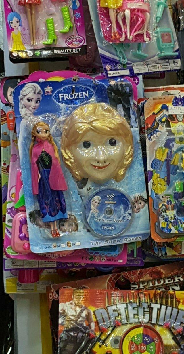 """Из мультфильма """"Холодное сердце"""": качество игрушек, конечно, ужасное"""