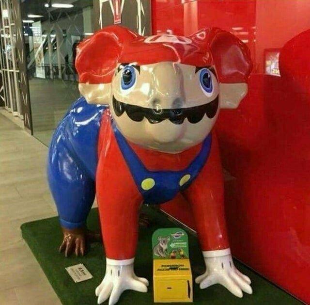 Как видят Марио в Австралии