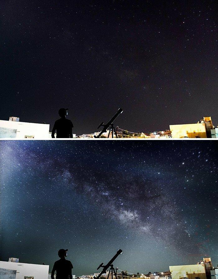 Разница между фотографиями, снятыми с большой и малой выдержкой