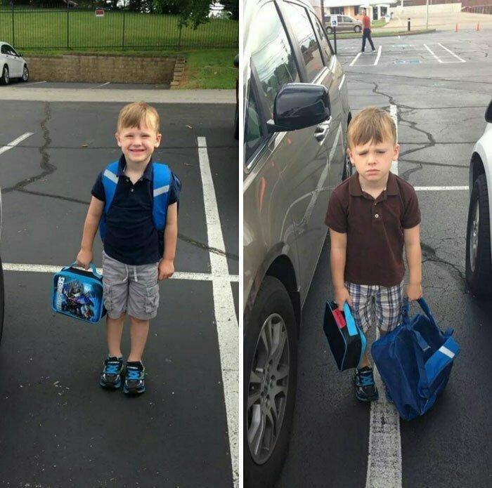 Первый день в школе - и второй день в школе