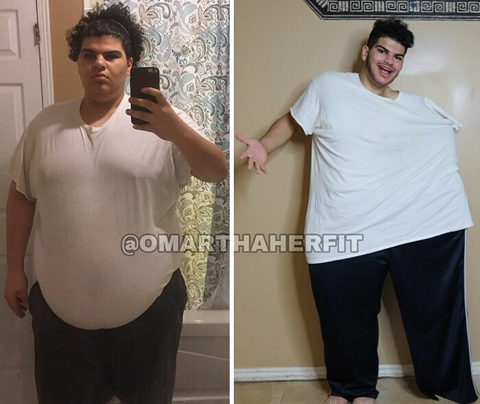 Как сидит одинаковая одежда до похудения на 50 кило - и после похудения
