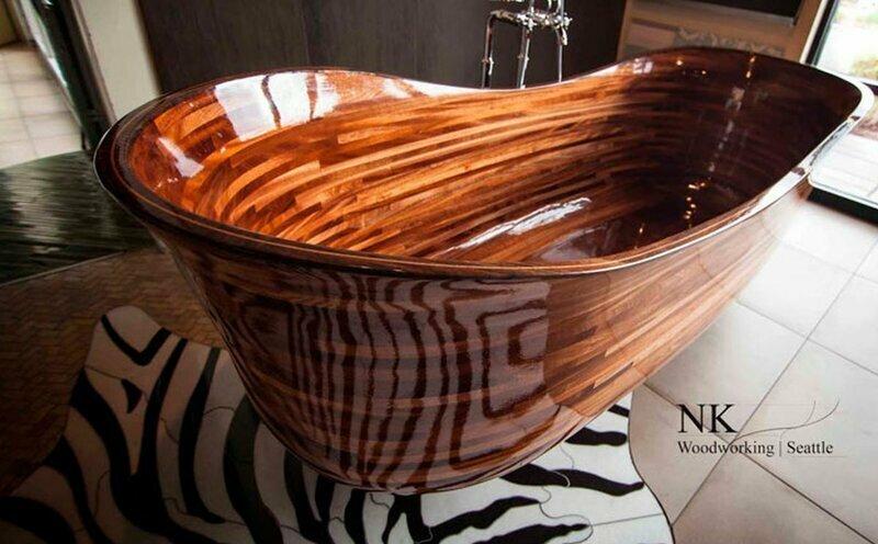 Смотрите, какими невероятными могут быть ванны из дерева!