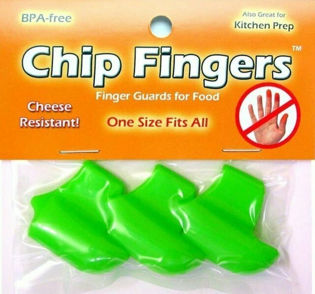 5. Напальчники для поедания чипсов, чтобы не марать руки