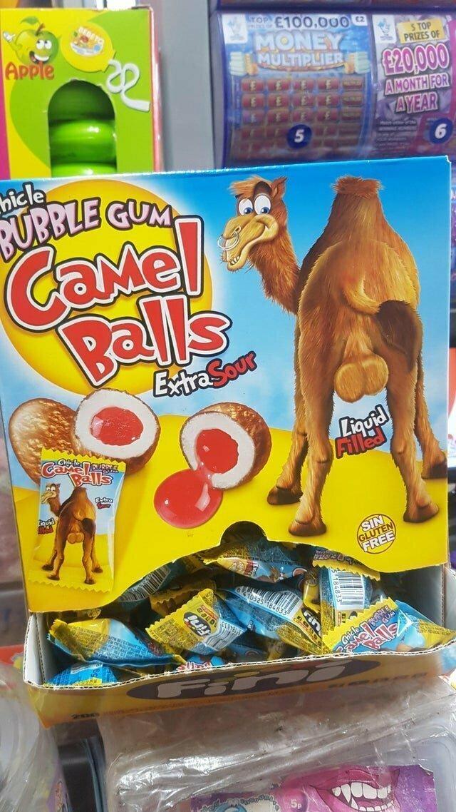 Конфеты - жидкие шарики от верблюда