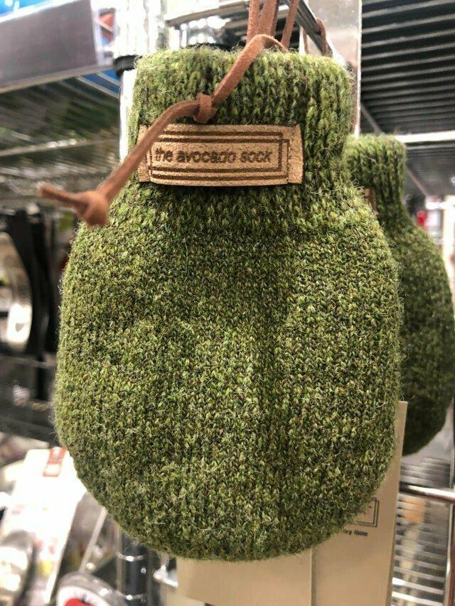 Носок для авокадо, чтобы ускорить процесс созревания