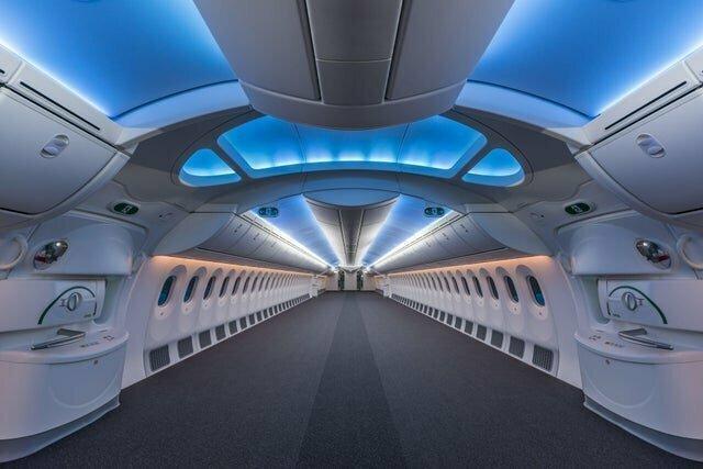 Так выглядит пустой Боинг 787