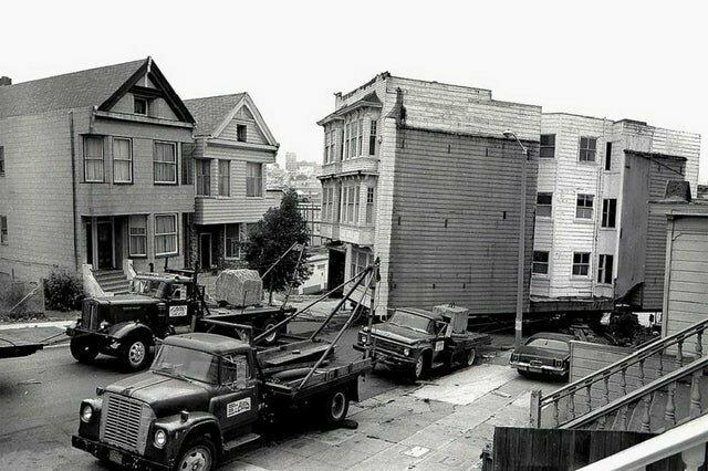 Как перемещали дома в Сан-Франциско, 1973 год
