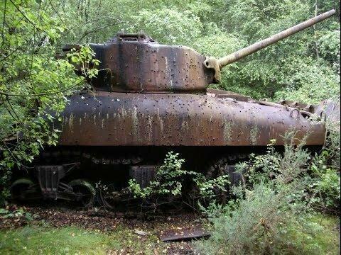 Заброшенный танк времен войны