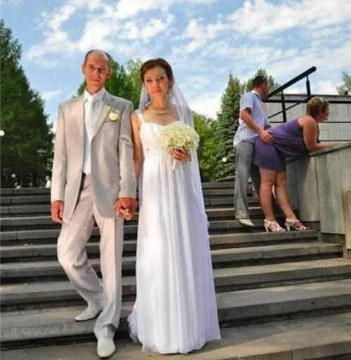 Задний план на свадебных фото тоже решает