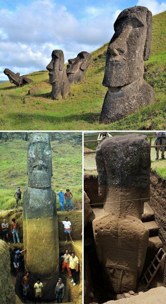 У гигантских голов на острове Пасхи, оказывается, есть тела