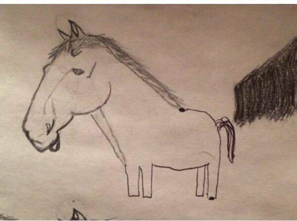 Начал рисовать с энтузиазмом...