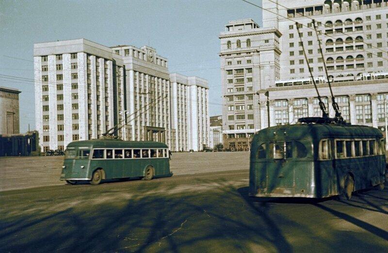 Московские троллейбусы 1938 года в цвете!