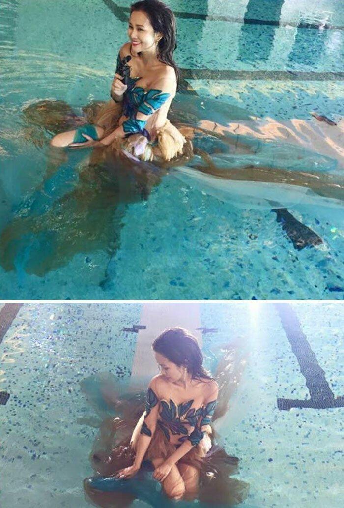 Вот почему не стоит надевать коричневую юбку на фотосессию в бассейн