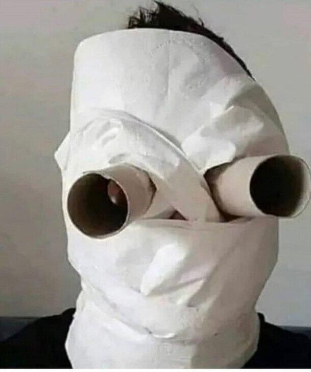 Защитная маска из бумаги