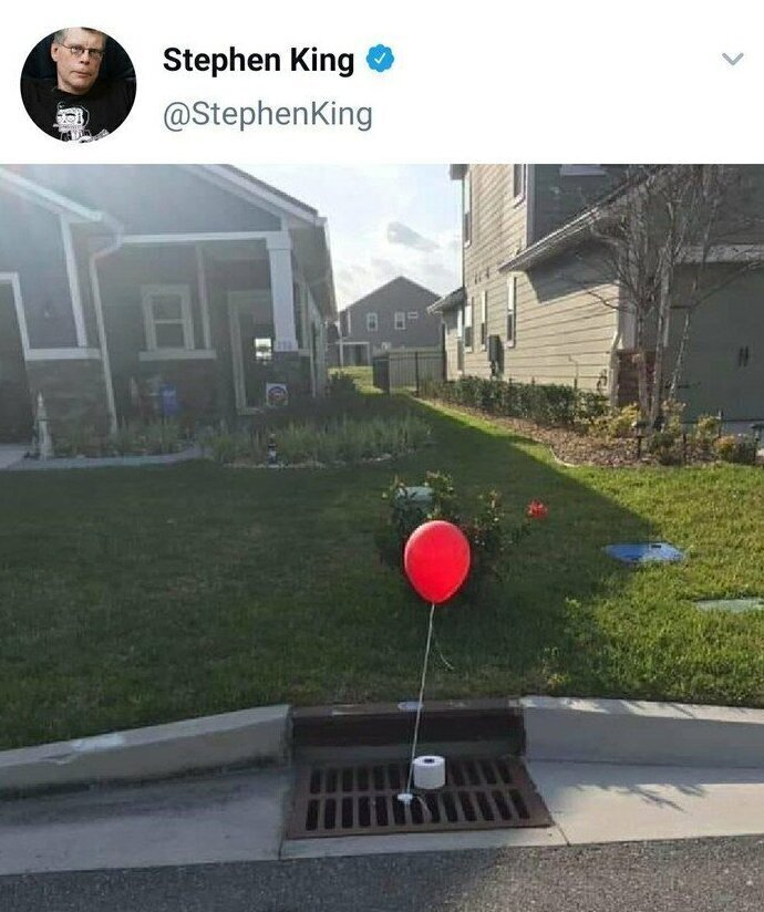 Стивен Кинг шутит