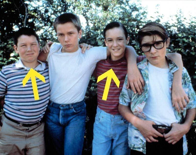 """11-летний Джерри О'Коннелл (Верн Тессио) и 13-летний Уил Уитон (Горди Лашанс), """"Останься со мной"""", 1986"""